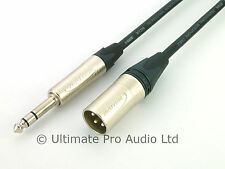 Professionalles Mikrofon Kabel mit KLOTZ XLR auf symmetrische Klinke M1MS1K