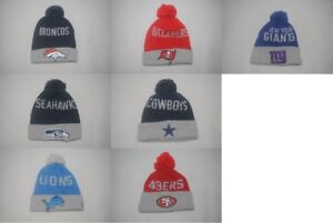 New Era NFL Sports Team Men s Hat Winter Knit Cuffed Beanie Cap POM ... 4ba5f7aafc8
