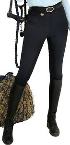 Image Is Loading Rugged Horse Las Riding Breeches Style Js4 Navy
