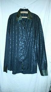 CréAtif Mans Rétro Vintage? Belle Asiatique Européenne Shirt Xxxl 56 Tour De Poitrine Noir/gris Patter-afficher Le Titre D'origine