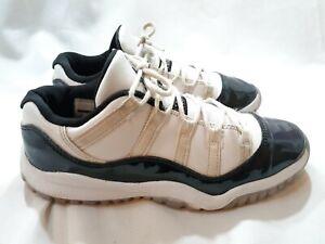 Air-Jordan-11-Retro-Low-BP-White-Black-Emerald-Rise-505835-145-Preschool-Size-3Y