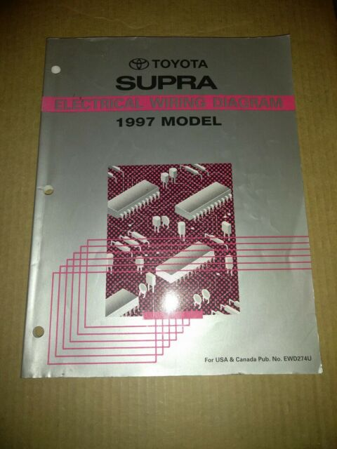 1997 Toyota Supra Shop Service Repair Manual Electrical Wire Wiring Diagram