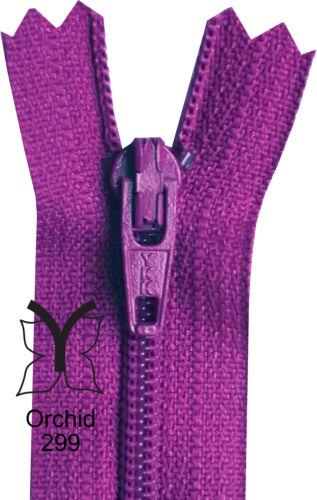 Burgundy Cerise YKK Closed End Nylon Zips Pink Red 10-56cm 4-22 Inch