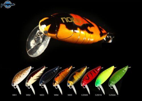 Leurre poisson nageur insecte bug 諾比 NOEBY 28mm 2gr pêche perche blackbass chub