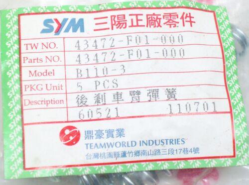 SYM Rückholfeder Feder für Bremszug ca Ø 9mm  ET: 43472-F01-00 in 50 lang