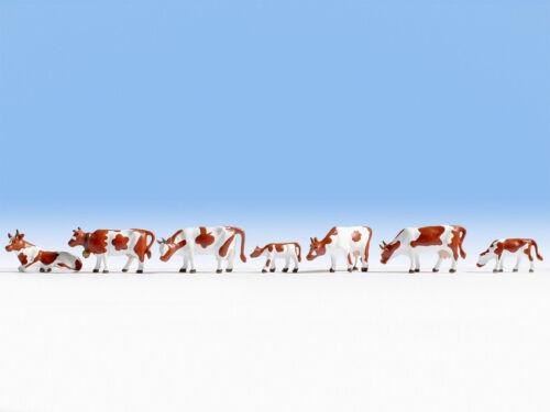Zubehör Modelleisenbahn GMK braun-weiß Kühe Noch HO 15723 Hobby