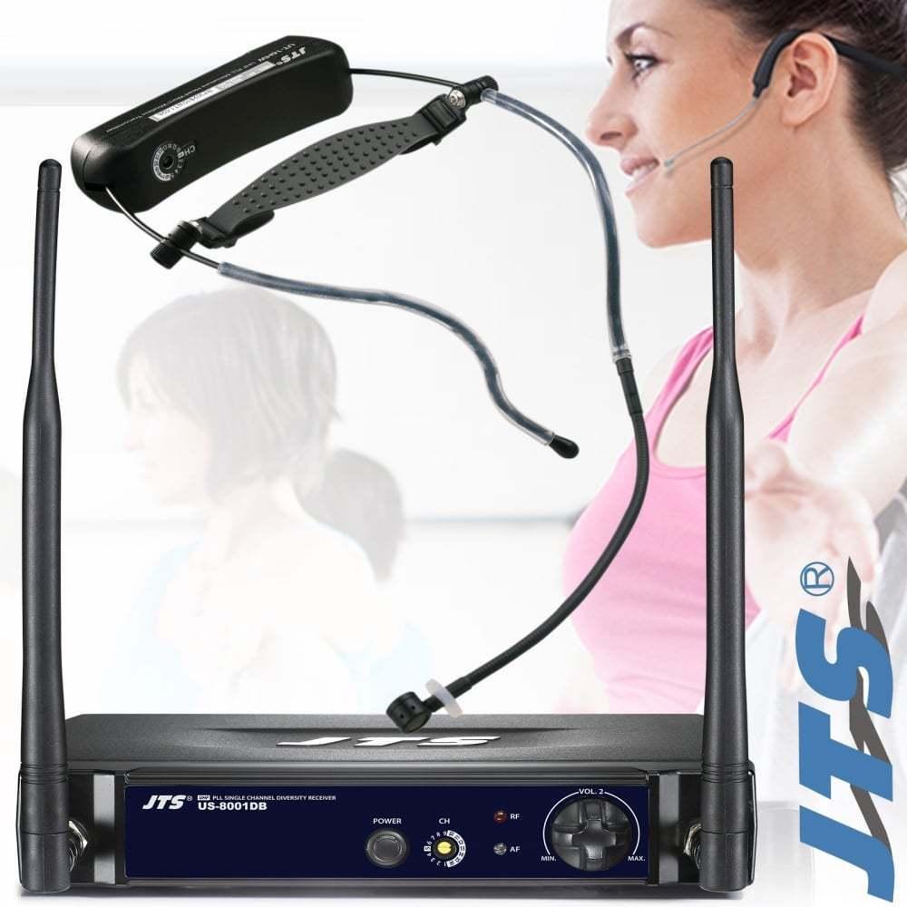 JTS UT Pro Aerobics Headset Wireless Microphone All In One UHF Radio Mic System
