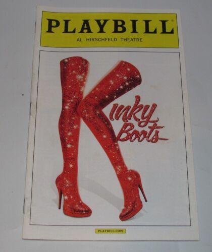 KINKY BOOTS FEBRUARY 2015 NYC BROADWAY PLAYBILL CYNDI LAUPER