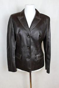 blazer veste état en 40 très cuir bon Walter dames en cuir gr dZ8qP