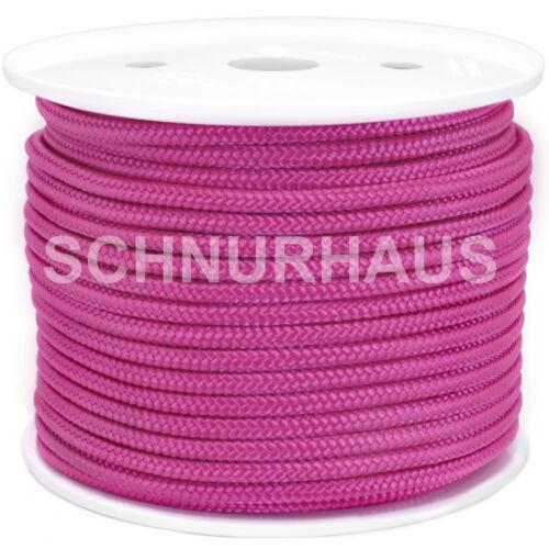 Schot Tauwerk cord rope 3mm PP 150daN Reepschnur 100m pink Leine Seil Schnur