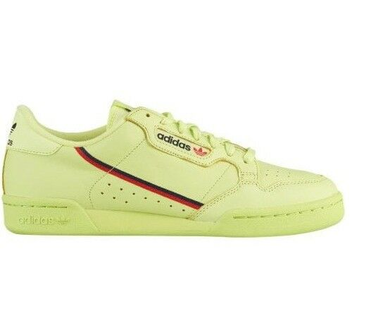 New adidas Originals Continental 80 B41675 - Men's Semi Solar Yellow Scarlet c1