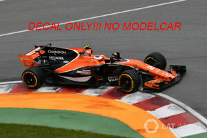 decal mclaren mcl32  2017 Vandoorne Alonso alcohol 1/18 F1 spark minichamps
