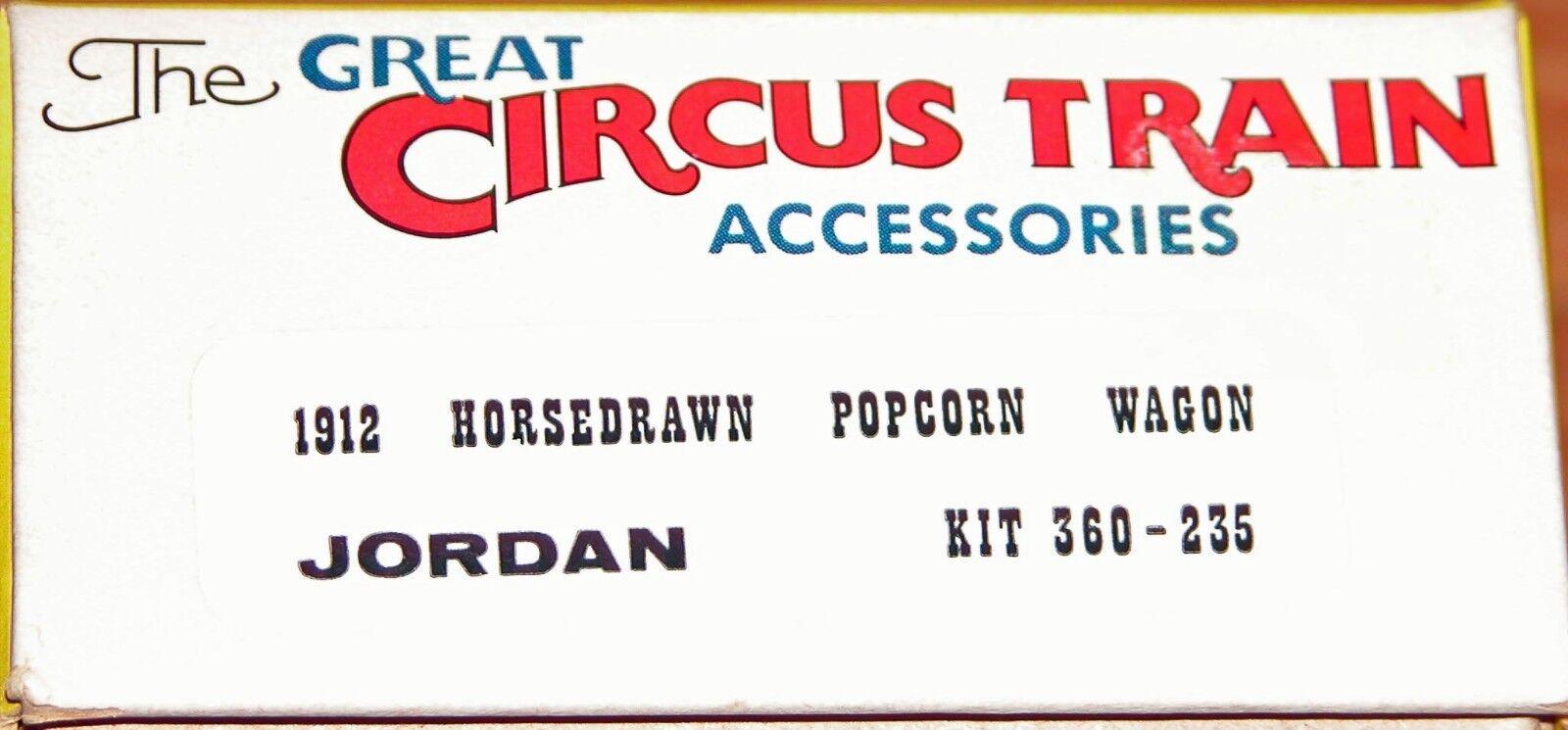 WALTHERS THE GREAT CIRCUS TRAIN ACC 360-235 JORDAN 1912 HORSEDRAWN POPCORN WAGON