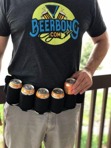 Beer BeltRed Neck Beer HolsterBeverage BeltHolds 6 BeersBlack