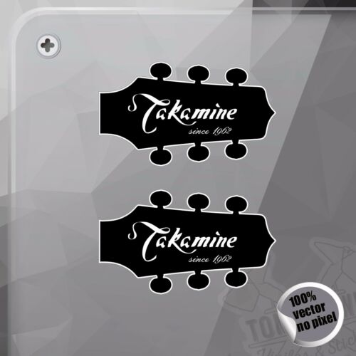 PEGATINA TAKAMINE GUITARS HEAD DECAL VINYL STICKER AUTOCOLLANT AUFKLEBER