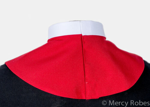 """Pastor Men/'s Red Clerical Collar Dickey 1.25/"""" Clergy Collar Priest"""