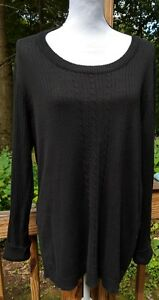 Just-My-Size-JMS-Womens-Sweater-Top-Size-2X-18W-20W-Black