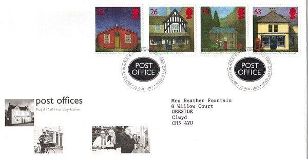 12 Août 1997 Bureaux De Poste Royal Mail First Day Cover Bureau Shs
