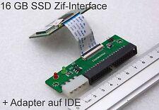 16 GB ZIF SSD SAMSUNG FESTPLATTE P-SSD1800 STOSSSICHER + ADAPTER AUF IDE 40-PIN