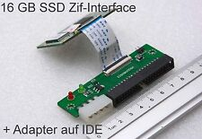 16 GB SSD zif disco duro Samsung p-ssd1800 choques + adaptador a 40-pin IDE