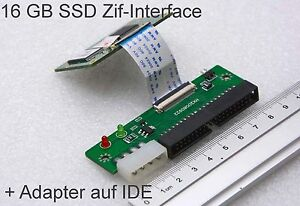 16-GB-ZIF-SSD-SAMSUNG-FESTPLATTE-P-SSD1800-STOSSSICHER-ADAPTER-AUF-IDE-40-PIN