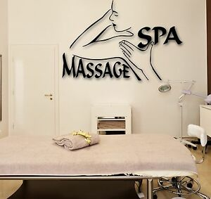Wall stickers vinyl decal spa massage beauty salon relax for Stickers salon