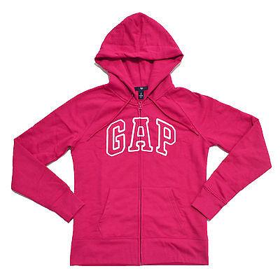 Gap Hoodie Womens Jacket Full Zip Arch Logo Fleece Lined Sweatshirt Casual New