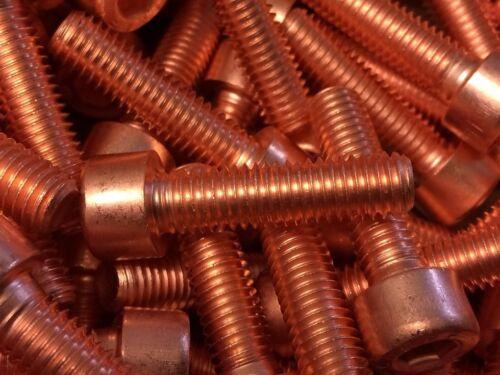 stark verkupfert 10 Stück Kupferschraube DIN EN ISO 4762 M8x30 10.9 hochfest