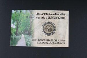 A-s-s-eslovenia-2-euro-2010-conmemorativa-Botanico-jardin-pp-proof-coincard