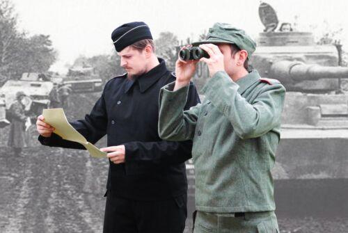 Armée Allemande Panzer Pantalon Noir Laine WW2 Repro Heer Toutes Les Tailles