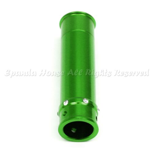 FOR ACURA HONDA JDM RHINSTONES METAL SPORTY CAR HAND BRAKE COVER ANODIZED GREEN