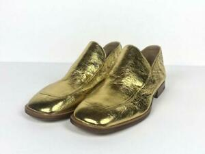 DRIES-VAN-NOTEN-x-need-supply-Women-Shoes-Gold-Loafers-039-s-EU-39-US-9-NEW-Reg-669