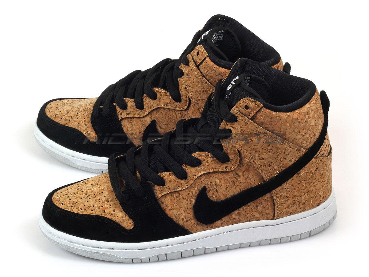 Nike schiacciare alto premio sb sughero nero / nocciola white skateboarding 313171-026 nero / nero-hazelnut-white