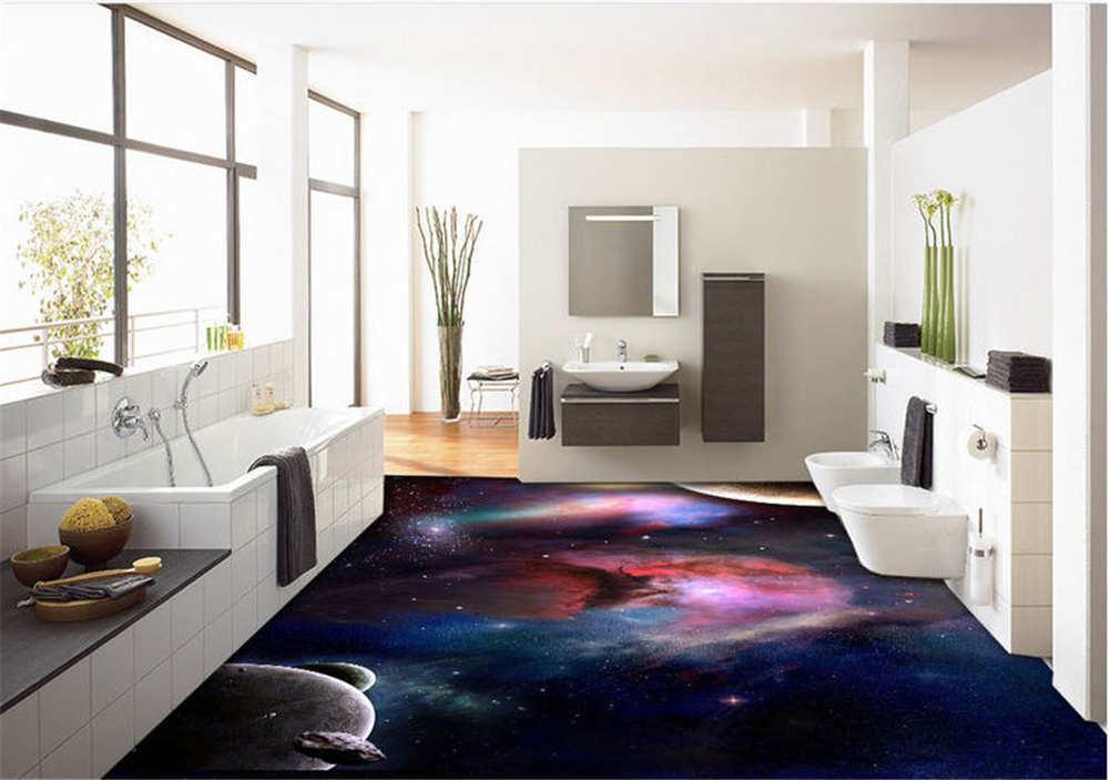 Dreamlike View 3D Floor Mural Photo Flooring Wallpaper Home Print Decoration Kid