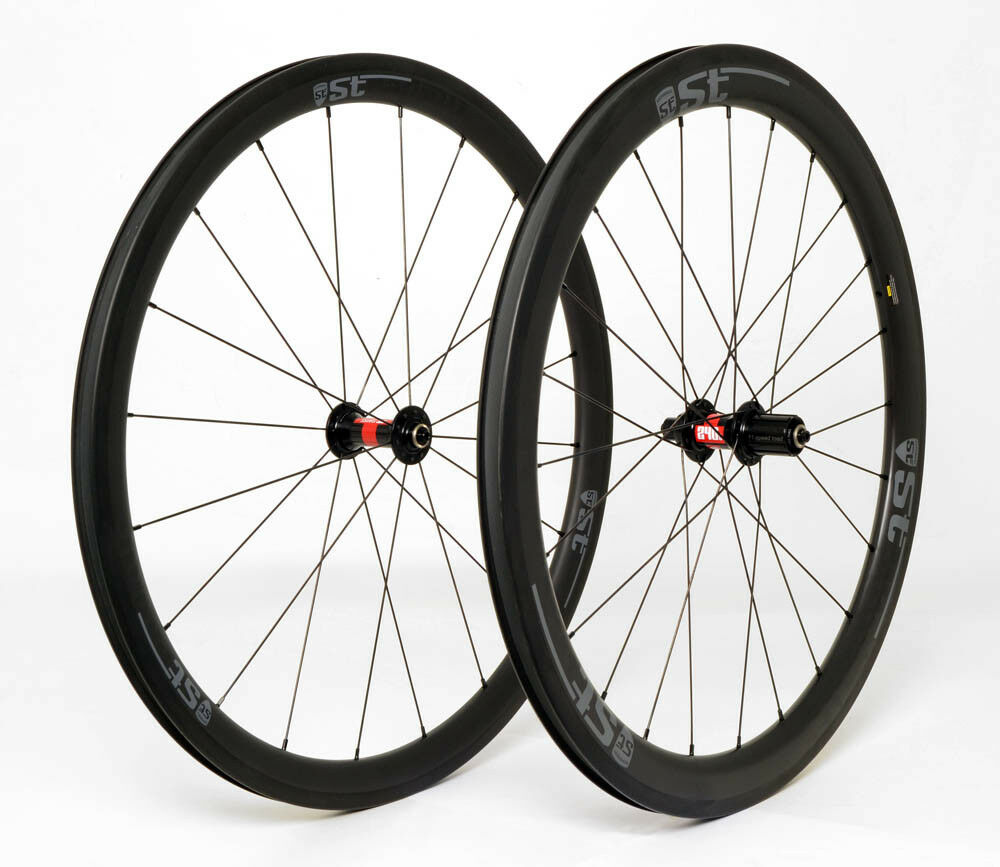 STRADALLI CARBON CLINCHER 40 50MM ROAD BICYCLE WHEELSET DT SWISS 240 WIDE AERO