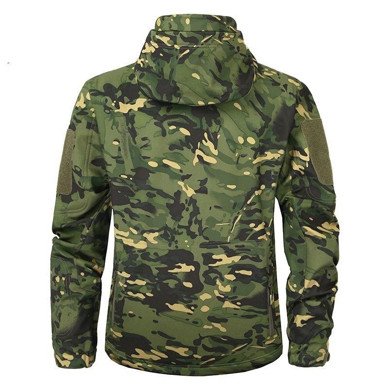 Men Waterproof Tactical Jacket Shark Skin Soft Shell Military Fleece Clothing