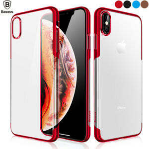 Fr-iPhone-Xs-Max-Xs-XR-X-Slim-Clear-Bumper-Shockproof-Crystal-Case-Plating-Cover