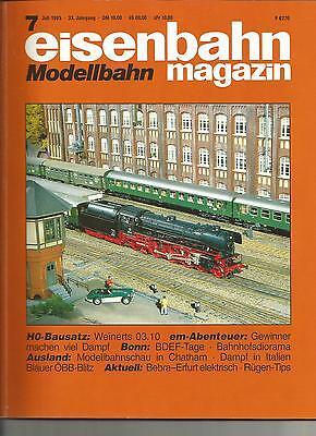 100% Vero Modello Ferrovie Treno Rivista 7 Luglio 1995-difettoso-mostra Il Titolo Originale Ulteriori Sorprese