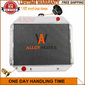 4 Row Core Radiator For Ford F100 F150 F250 F350 Bronco Truck 1966-1979 73 78