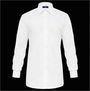 Camicia-bianca-Ingram-collo-classico-italiano-puro-cotone-No-Stiro-taglia-43-XL