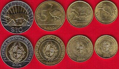 CHILE SET 6 COINS 1 5 10 50 100 500 PESO 2006-2008 BI-METALLIC UNC