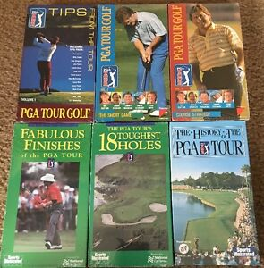 Details about 6 NEW PGA GOLF TOUR VHS Tapes * Short Game * Toughest Holes *  Tips * History