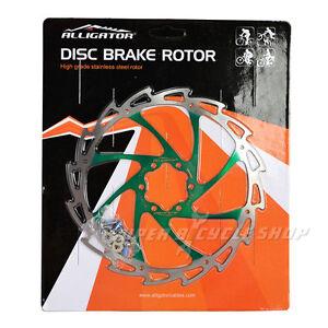 ALLIGATOR Coated Disc Brake Rotor,WIND CUTTER,180mm,Green,113g