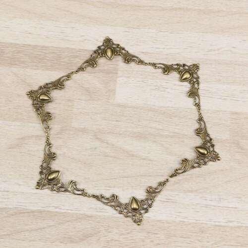 24pcs Antike Buchecken Ornamente Schutzecke Buchecke Metall Europäischer Stil