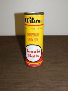 "VINTAGE 7 1/2""  WILSON CHAMPIONSHIP TENNIS BALLS TIN METAL CONTAINER *NO BALLS*"