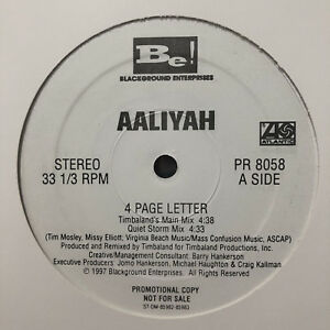 AALIYAH-TIMBALAND-4-PAGE-LETTER-REMIXES-12-034-1997-RARE
