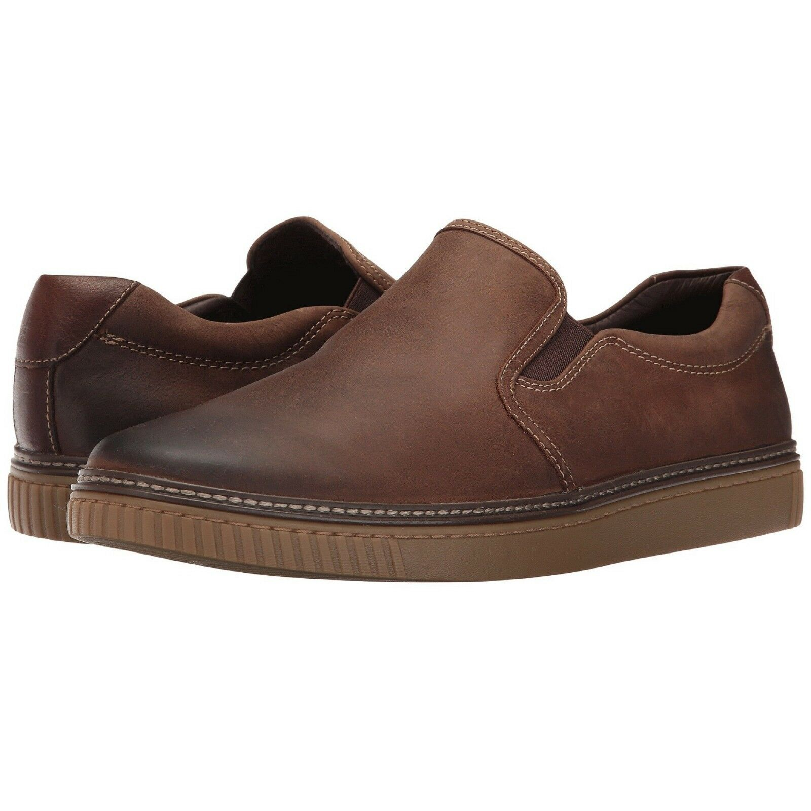 25-2820 Slip-On  Brown Oiled Leather, Johnston&Murphy Men's Dress-up shoes
