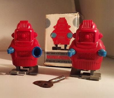 Bello Robot : Two Rare Little Plastic ,original Japan 1960 - Not China