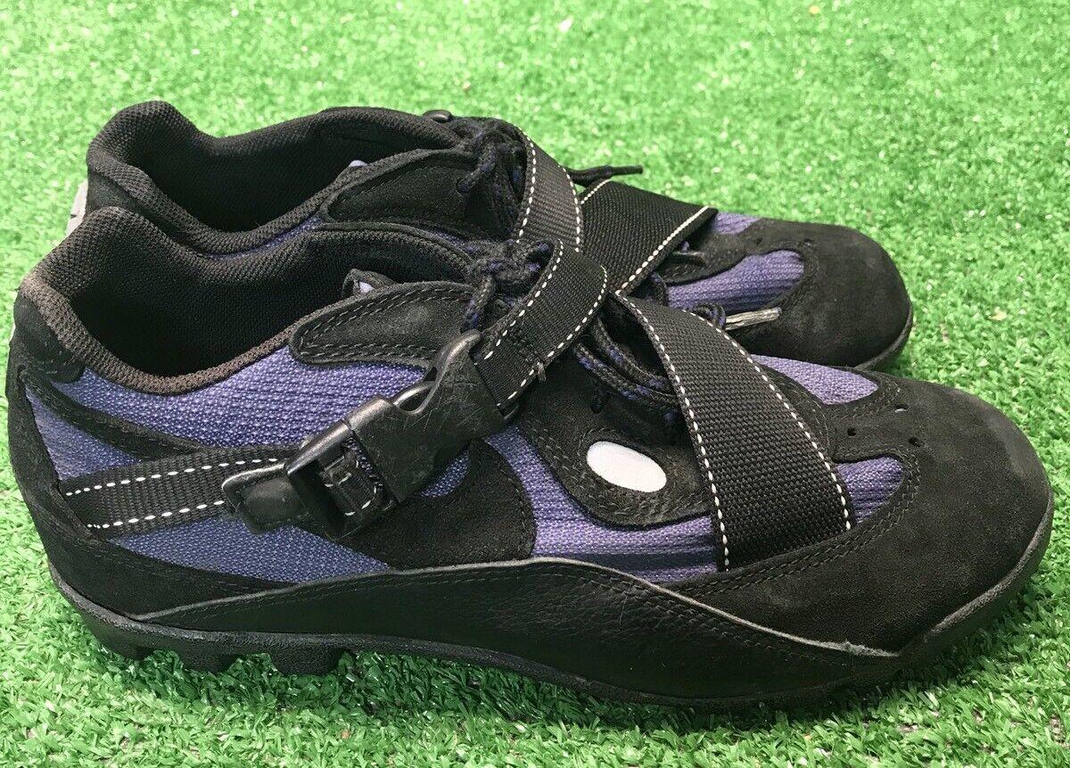 Vintage NIKE ACG POOH-BAH 1997 Suede Cycling shoes Size 8 US Men's bluee Bike EUC