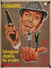 BLAGUE DANS LE COIN French moyenne movie poster FERNANDEL 1963